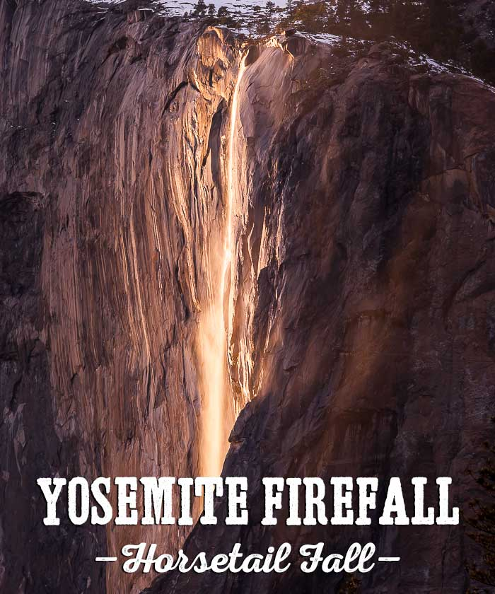 Yosemite Firefall, Horsetail Fall